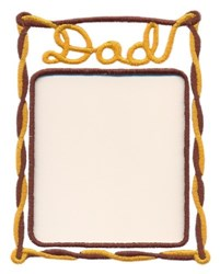 Dad Photo Frame embroidery design
