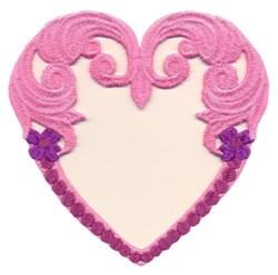Swirling Heart Border embroidery design