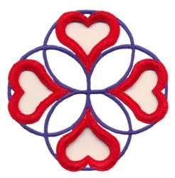 Circles and Hearts embroidery design