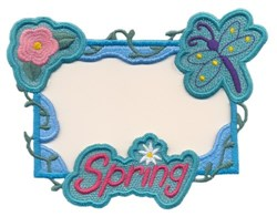 Spring Border embroidery design