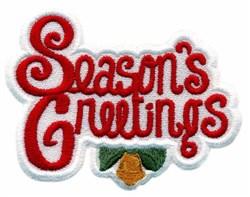Seasons Greeting embroidery design