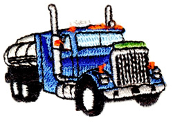 Tanker Truck embroidery design