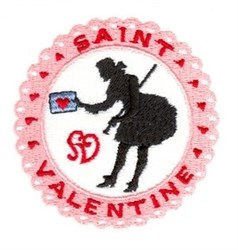 Saint Valentine embroidery design