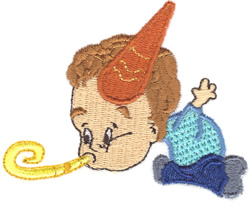Party Kid embroidery design