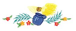 Milk Jug embroidery design