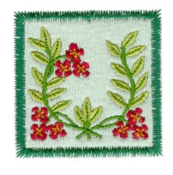 Folk Art Applique embroidery design
