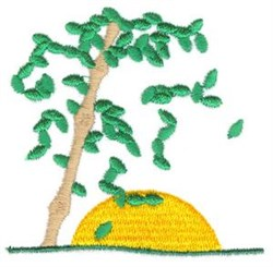 Bamboo Sunset embroidery design