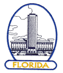 Florida State Capitol embroidery design