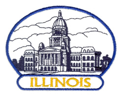 Illinois State Capitol embroidery design