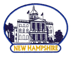 New Hampshire Capitol embroidery design