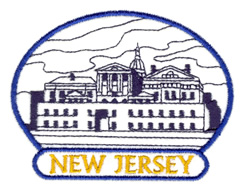 New Jersey State Capitol embroidery design