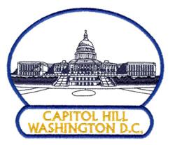 Capitol Hill Washington DC embroidery design