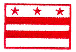 District of Columbia Flag embroidery design