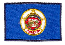 Minnesota State Flag embroidery design