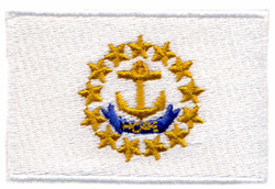 Rhode Island State Flag embroidery design