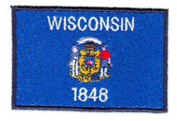 Wisconsin State Flag embroidery design