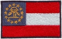 Georgia State Flag embroidery design