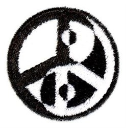 Peace Yin-Yang embroidery design