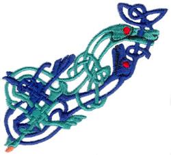 Celtic Dragon Design embroidery design