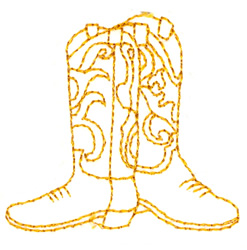 Stitchitize Embroidery Design: Cowboy Boots 2.71 inches H x 2.36 ...