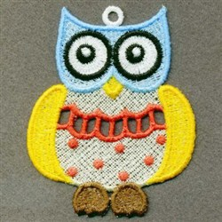 FSL Colorful Owl embroidery design