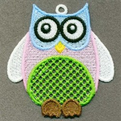FSL Cute Owl embroidery design