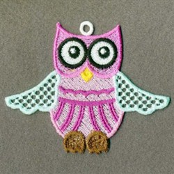 FSL Flying Owl embroidery design