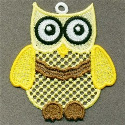 FSL Yellow Owl embroidery design