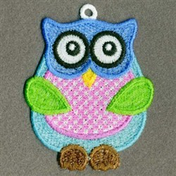 FSL Blue Owl embroidery design