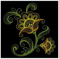 Rippled  Flowers embroidery design