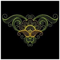 Floral Ripple embroidery design