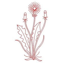Dandelion Redwork embroidery design