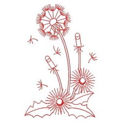 Redwork Dandelions embroidery design