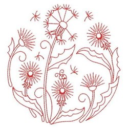 Dandelion Blooms embroidery design
