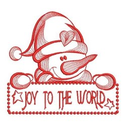 Joy To World Snowman embroidery design