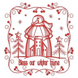 Our Winter Home embroidery design