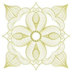 Rippled Quilt Block embroidery design