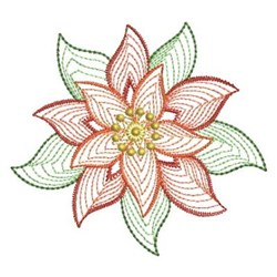 Xmas Poinsettia embroidery design