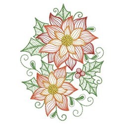 Poinsettia Floral embroidery design