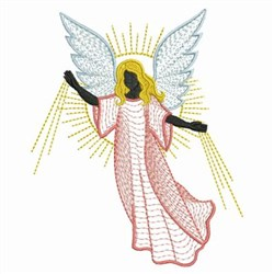 Rippled Angels embroidery design