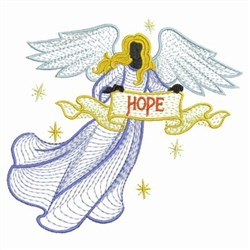 Rippled Hope Angel embroidery design