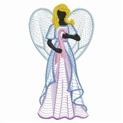 Hope Ribbon Angel embroidery design
