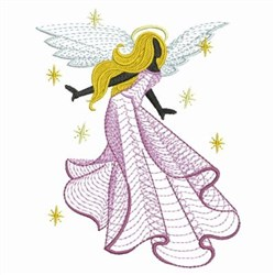 Rippled Angel embroidery design