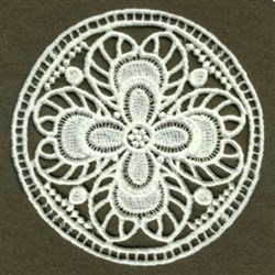 FSL Round Doily embroidery design