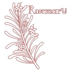 Redwork Rosemary embroidery design