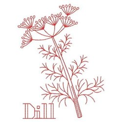 Redwork Dill embroidery design