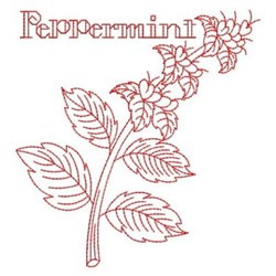 Redwork Peppermint embroidery design