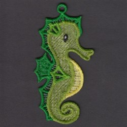 FSL Seahorse embroidery design