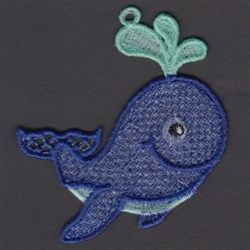 FSL Whale embroidery design