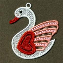 FSL Heart Swan embroidery design